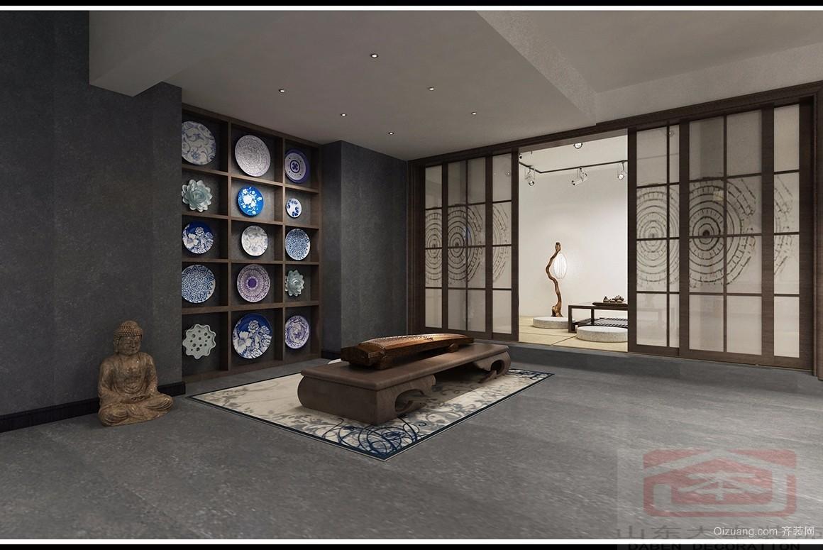 中海紫御东郡中式风格装修效果图实景图