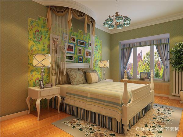 齐悦国际花园欧式风格装修效果图实景图