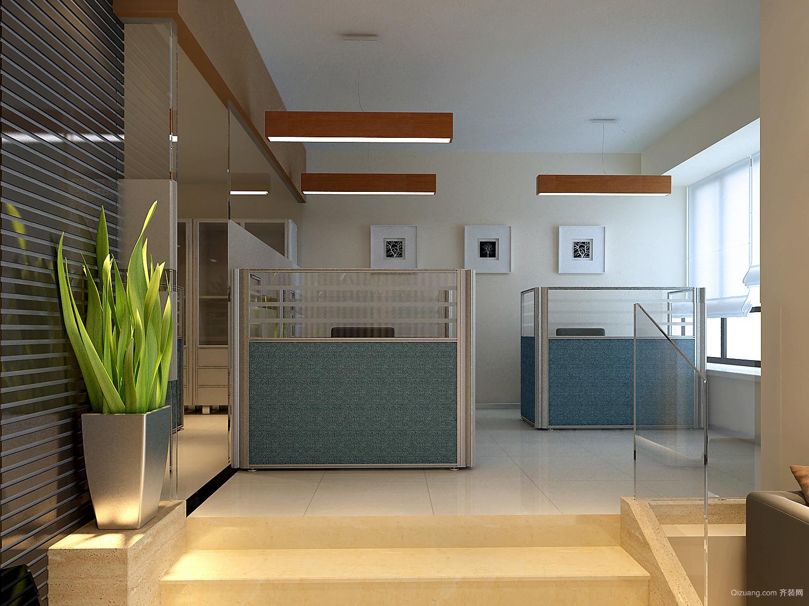 碧桂城市花园何总办公室现代简约装修效果图实景图