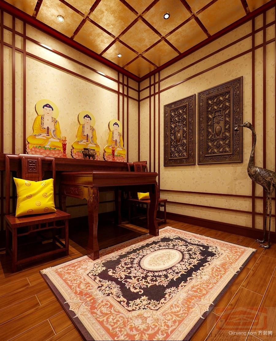 阳光舜城中式风格装修效果图实景图