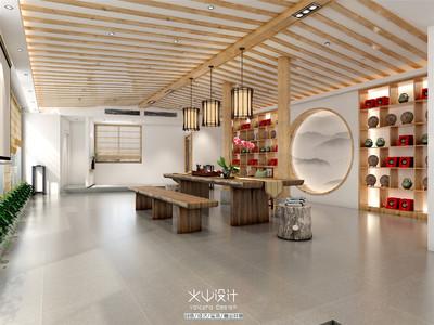 宁德白茶厂房茶室装修装修设计案例