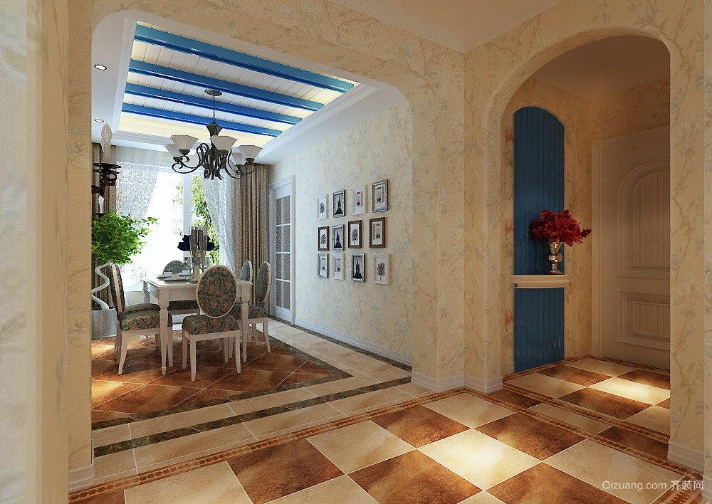 升龙城地中海风格装修效果图实景图