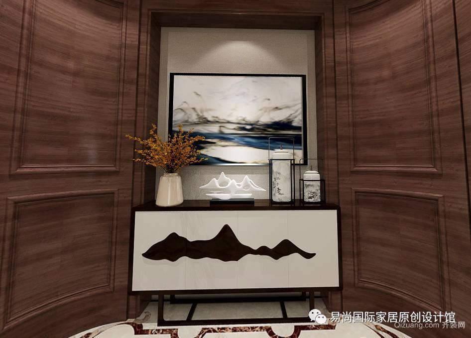 联投洋房两套打通中式风格装修效果图实景图