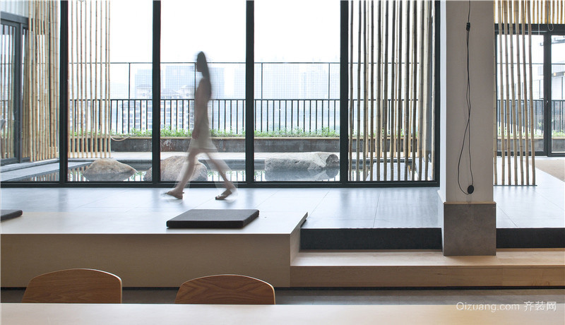 空中瑜伽会所现代简约装修效果图实景图