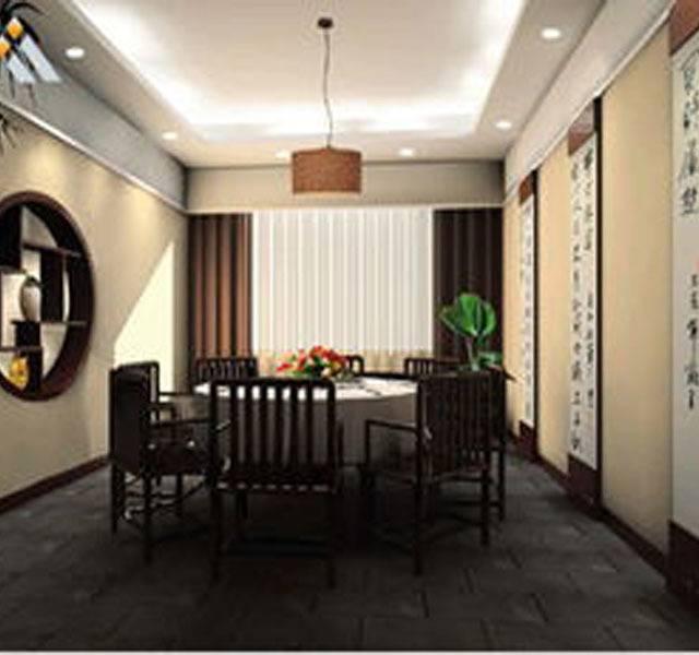 我家小馆200㎡中式风格装修案例