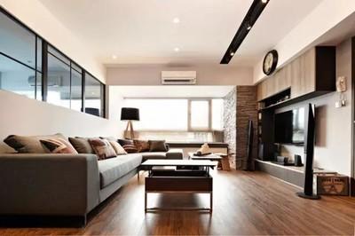上饶80平米现代风格装修效果图,品味雅致两居室装修设计案例