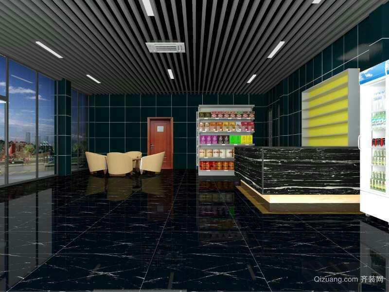 海坡加油站现代简约装修效果图实景图