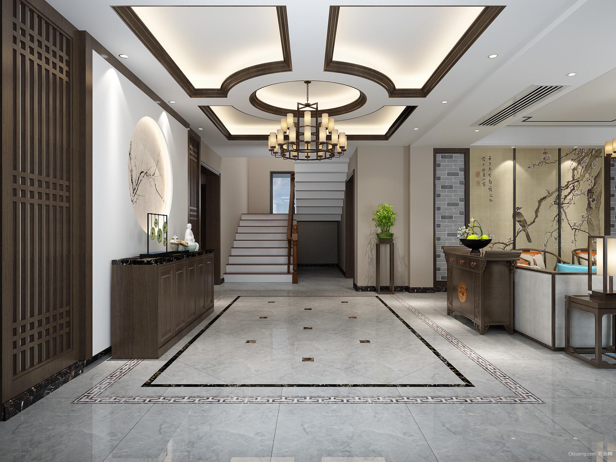 王庄自建别墅中式风格装修效果图实景图