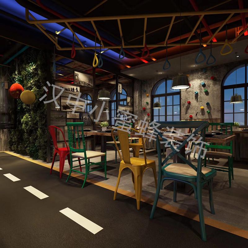 豫江南餐厅混搭风格装修效果图