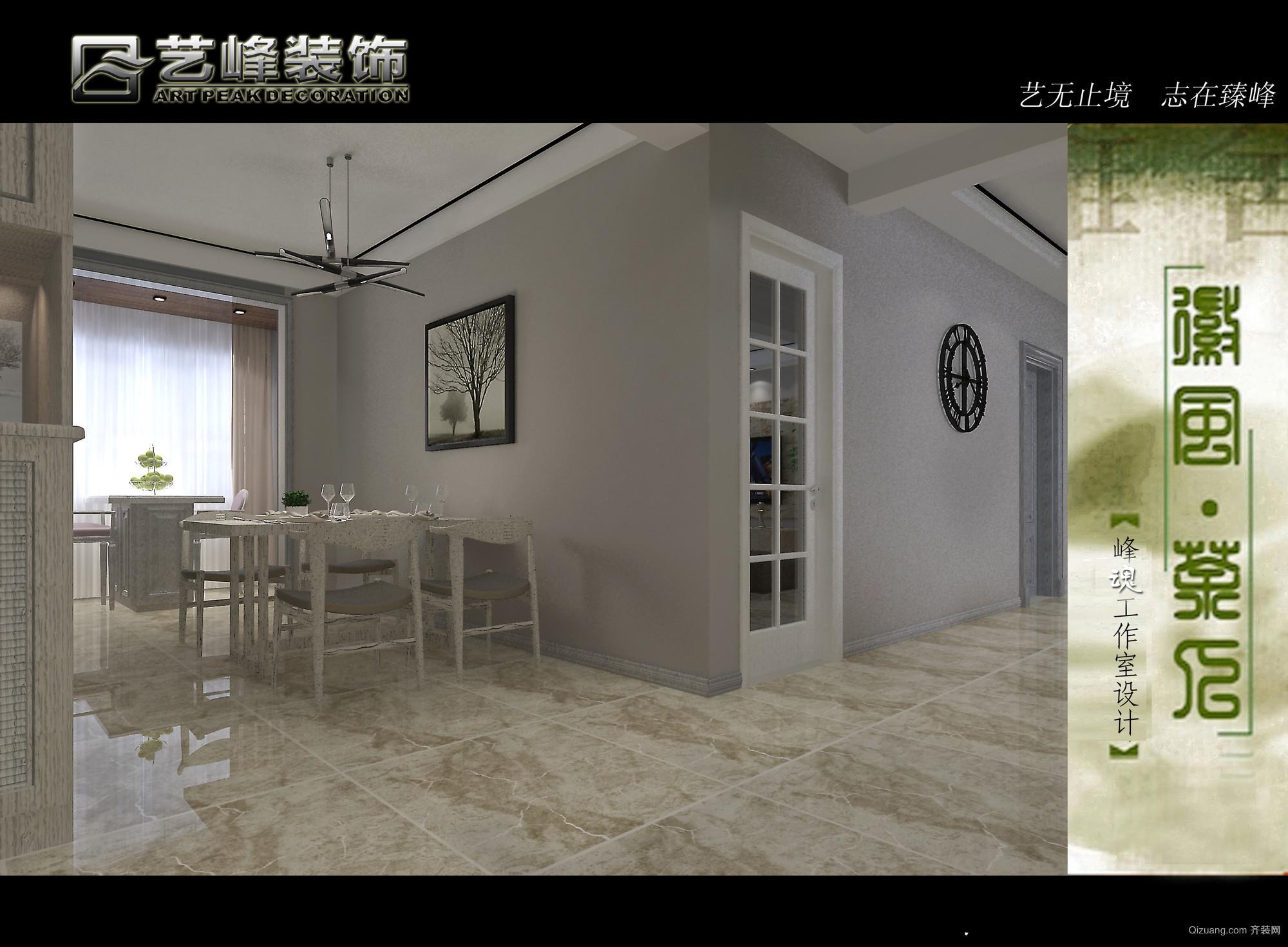 锦绣江南美式风格装修效果图实景图