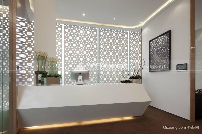 佛山张槎办公样板房现代简约装修效果图实景图