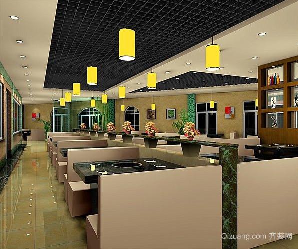 某餐厅现代简约装修效果图实景图