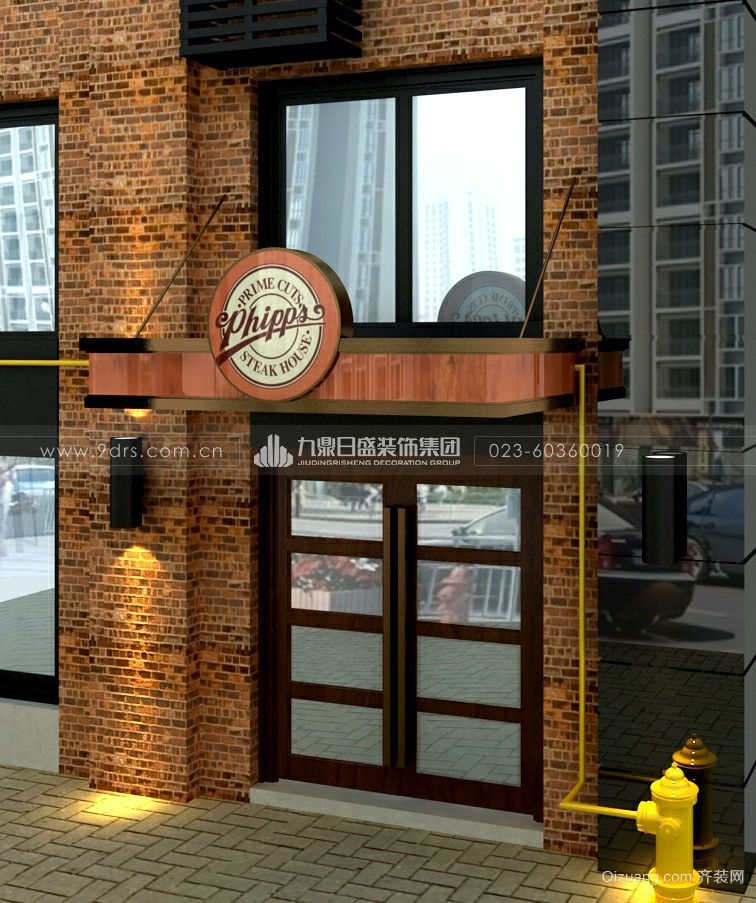 PHIPPS西餐厅现代简约装修效果图实景图