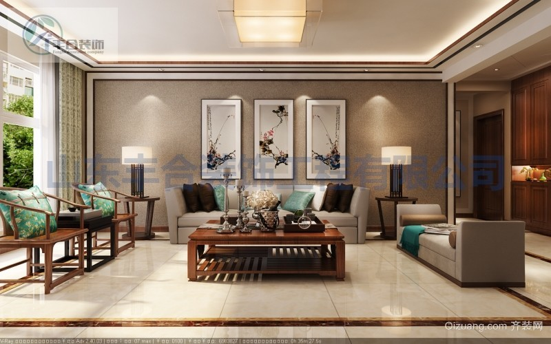 凤凰国际中式风格装修效果图实景图