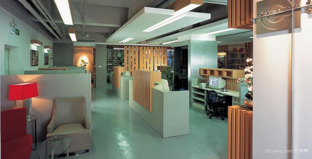 科技公司办公室装修现代简约装修效果图实景图