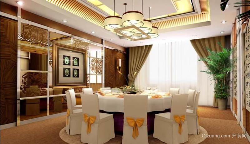 餐厅装修效果现代简约装修效果图实景图