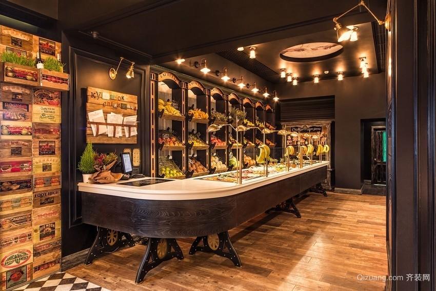 水果专卖店美式风格装修效果图实景图