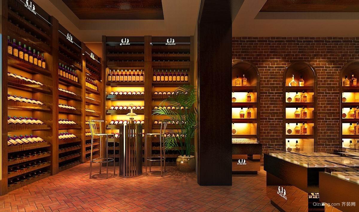 烟酒专卖店中式风格装修效果图实景图