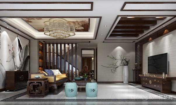 金鹰平墅中式风格装修效果图实景图
