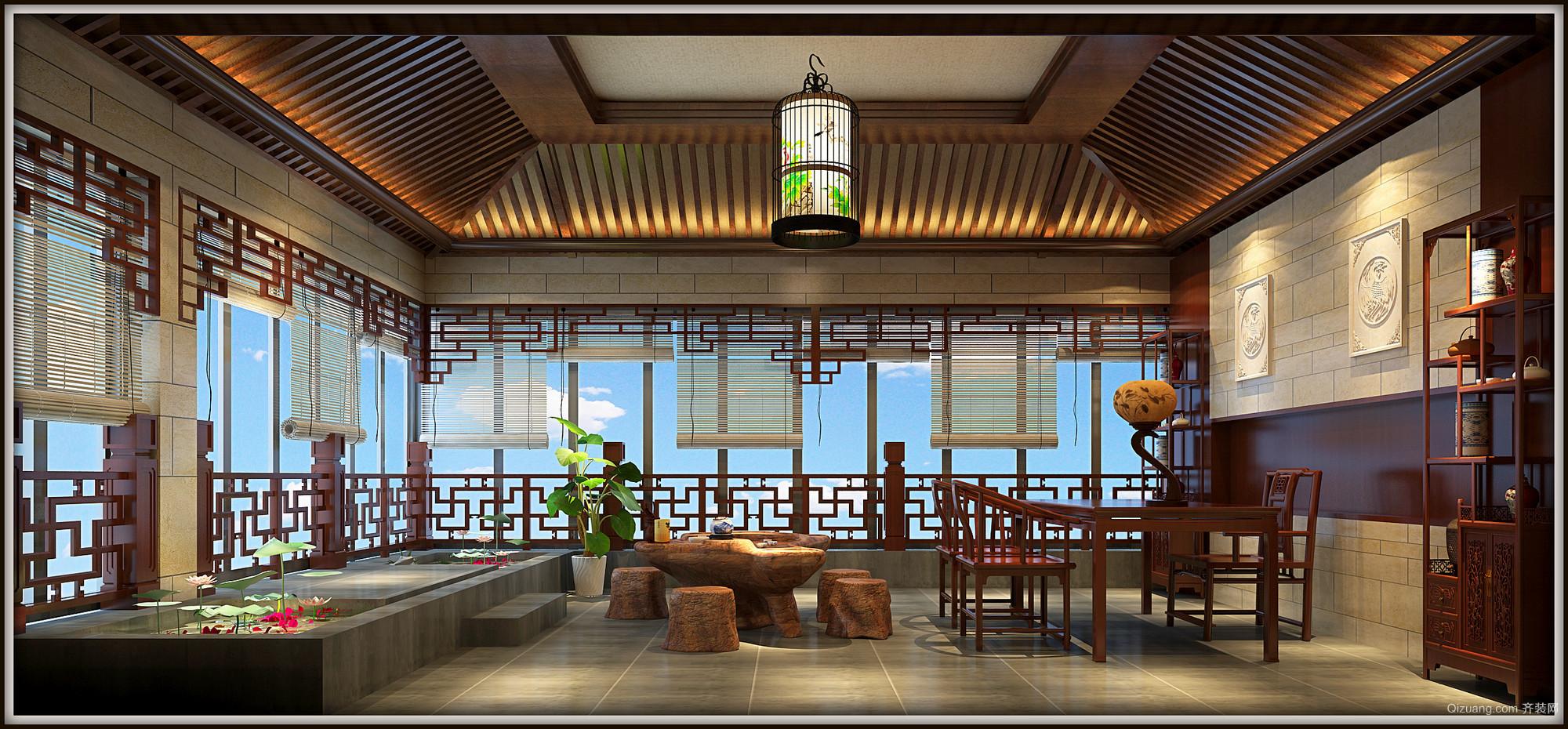 碧桂园中式风格装修效果图实景图