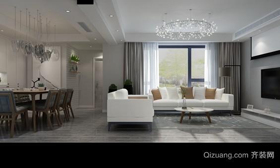 都市豪庭现代简约装修效果图实景图