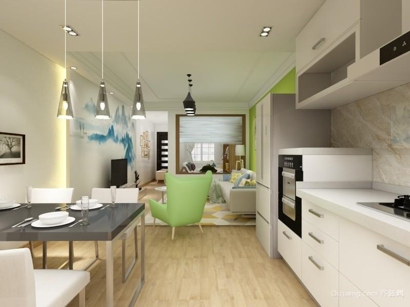 嘉年华国际公寓现代简约装修效果图实景图