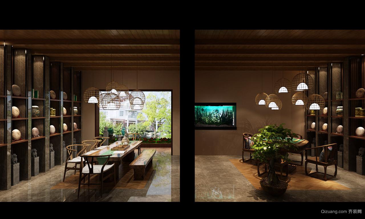 恒祥御景101-2中式风格装修效果图实景图