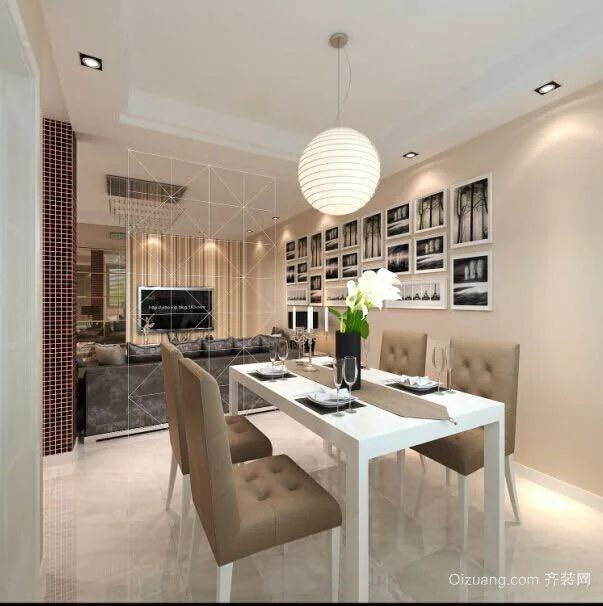 华南公寓现代简约装修效果图实景图