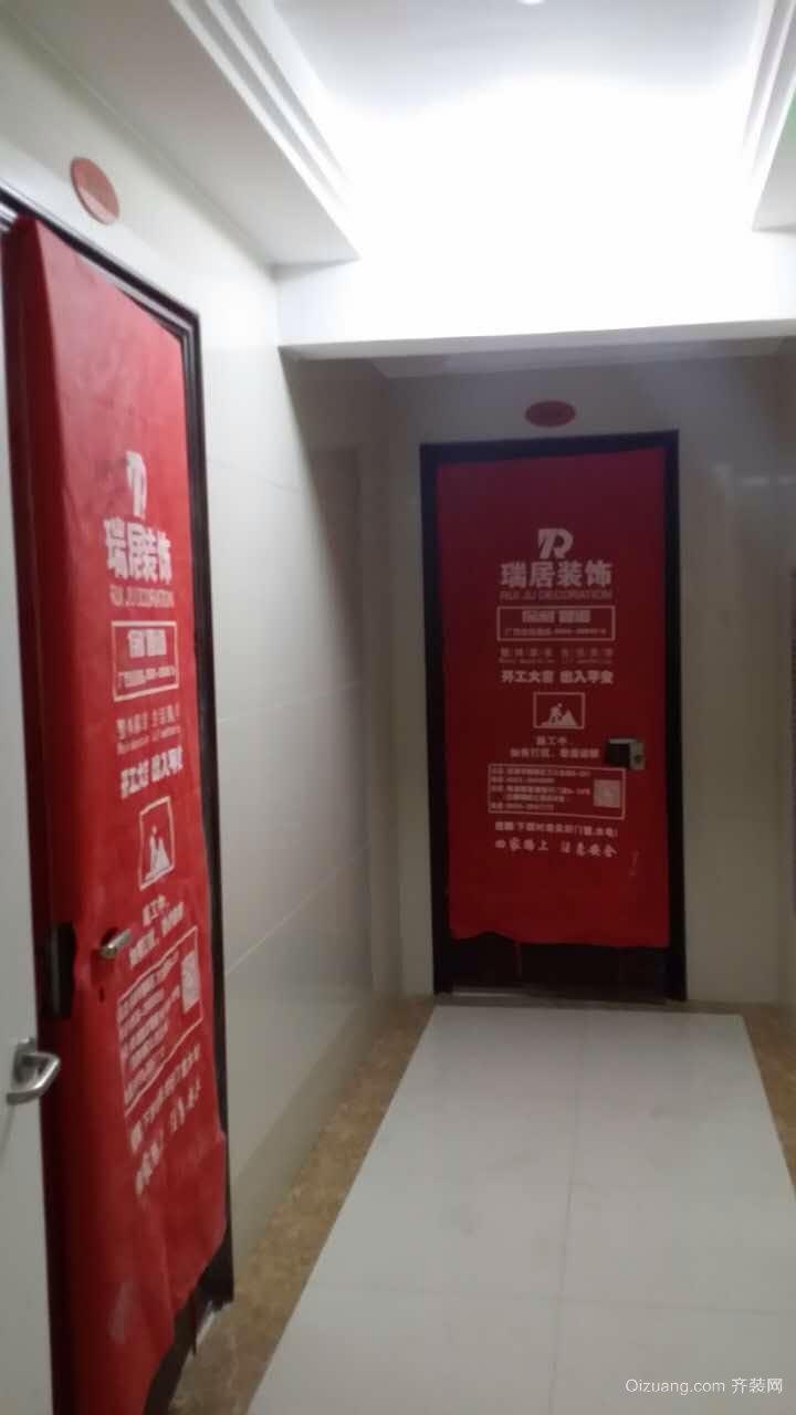 [瑞居装饰]长江之歌在建工地现代简约装修效果图实景图