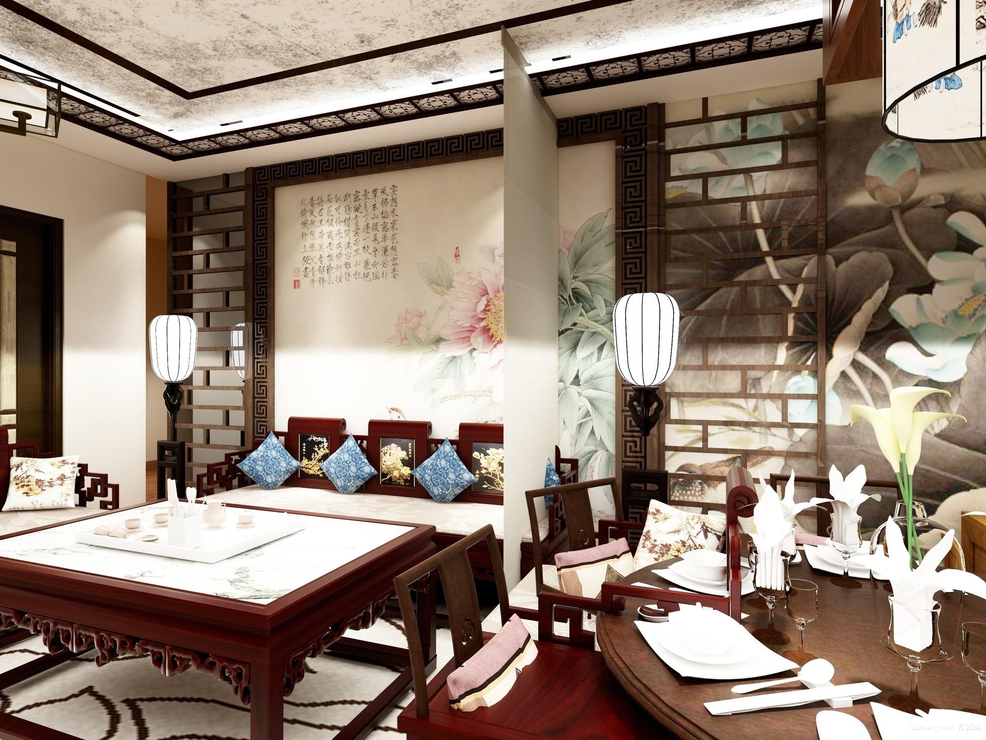铂悦山中式风格装修效果图实景图