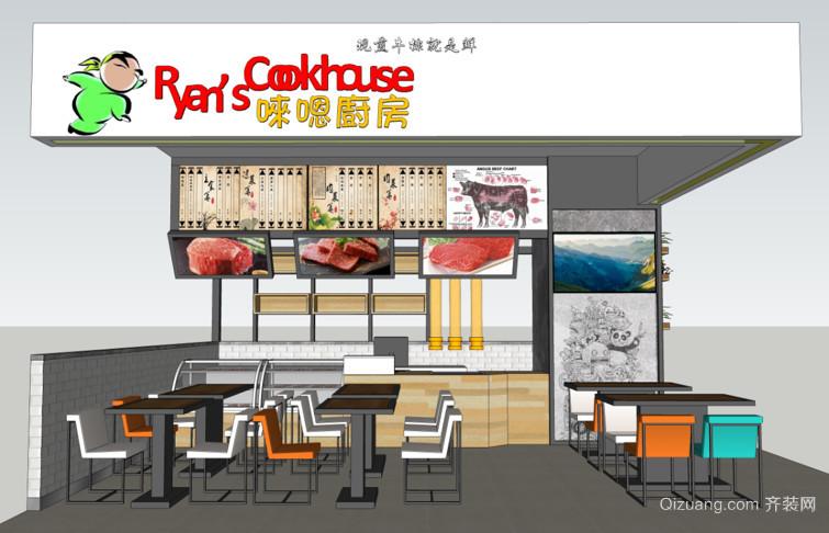 万家丽唻嗯厨房现代简约装修效果图实景图