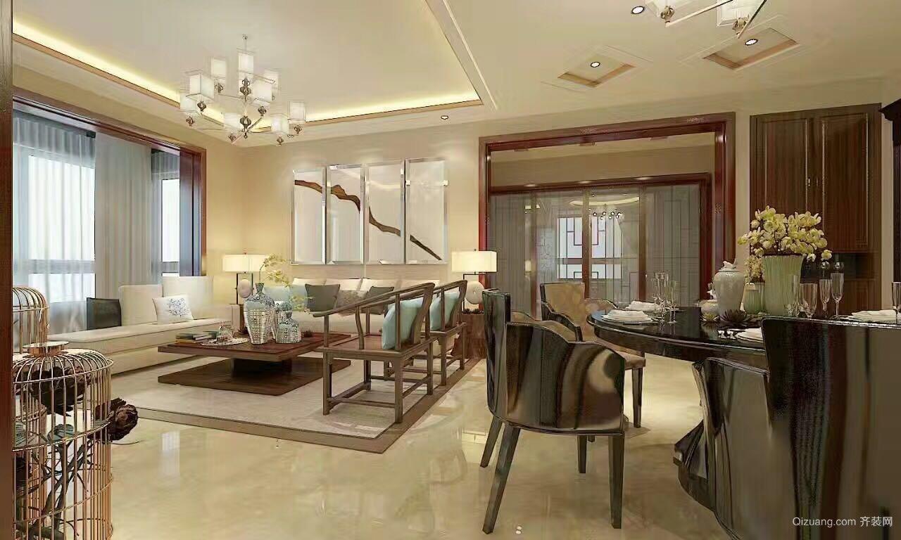 120平米普通家装中式户型风格装修图片v家装-邢南通室内设计助理图片