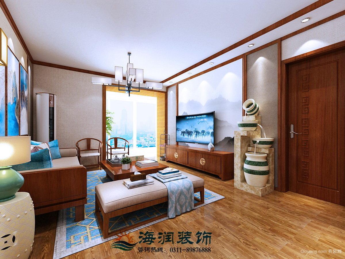 碧溪尊苑8号楼1单元2201室中式风格装修效果图实景图