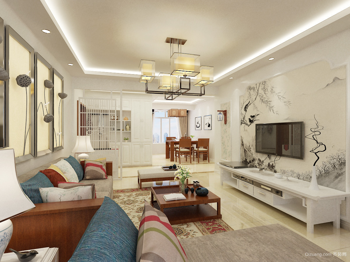 明珠家园中式风格装修效果图实景图