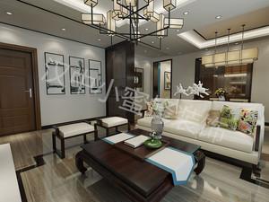 汉中130㎡中式风格装修效果图