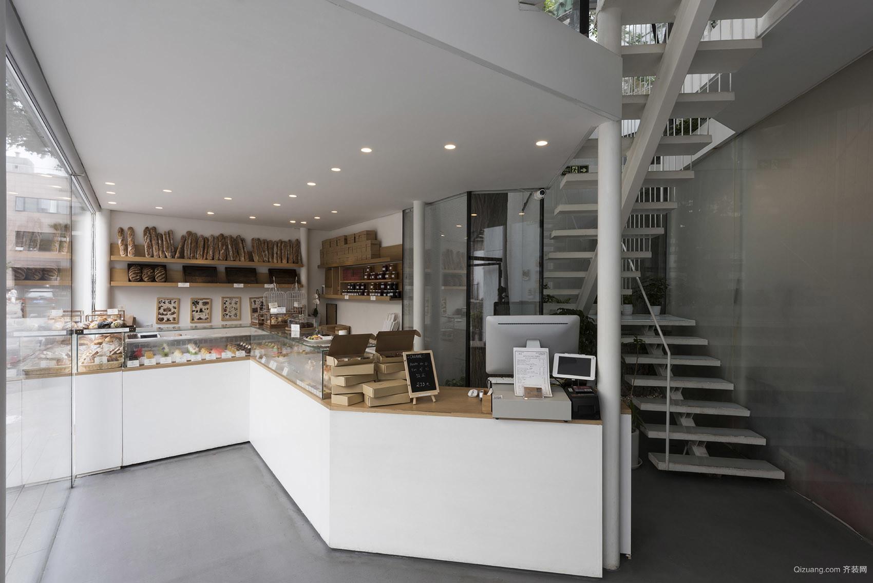甜品店现代简约装修效果图实景图