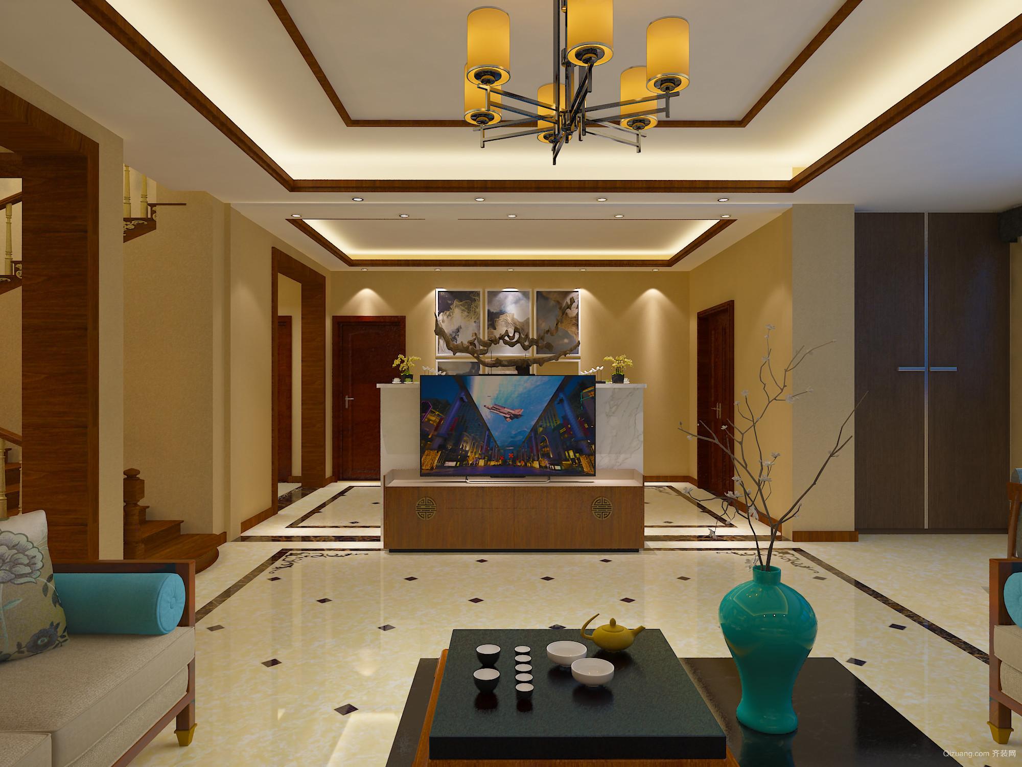 皇冠水岸中式风格装修效果图实景图