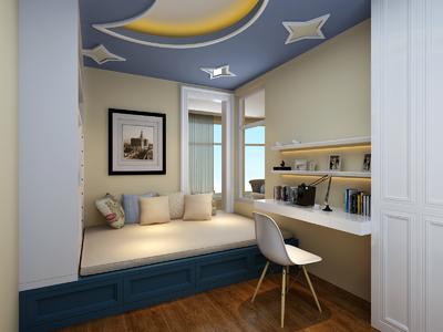 新余地中海装饰风格效果图装修设计案例