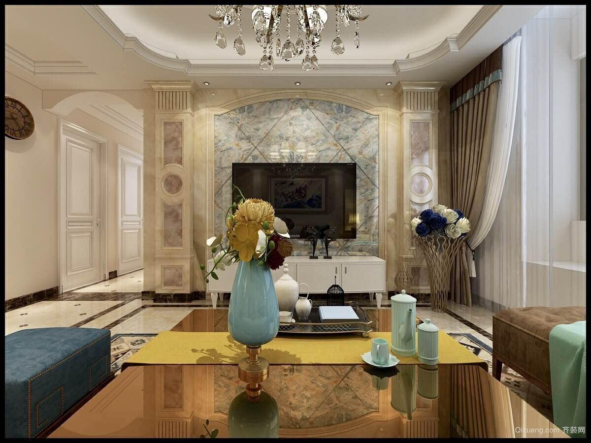 中海国际欧式风格装修效果图实景图