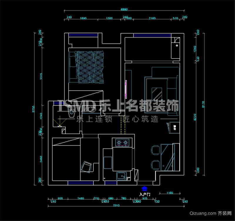 中海·华山珑城现代简约装修效果图实景图