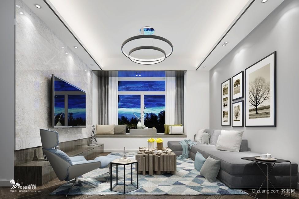 滨海之窗现代简约装修效果图实景图