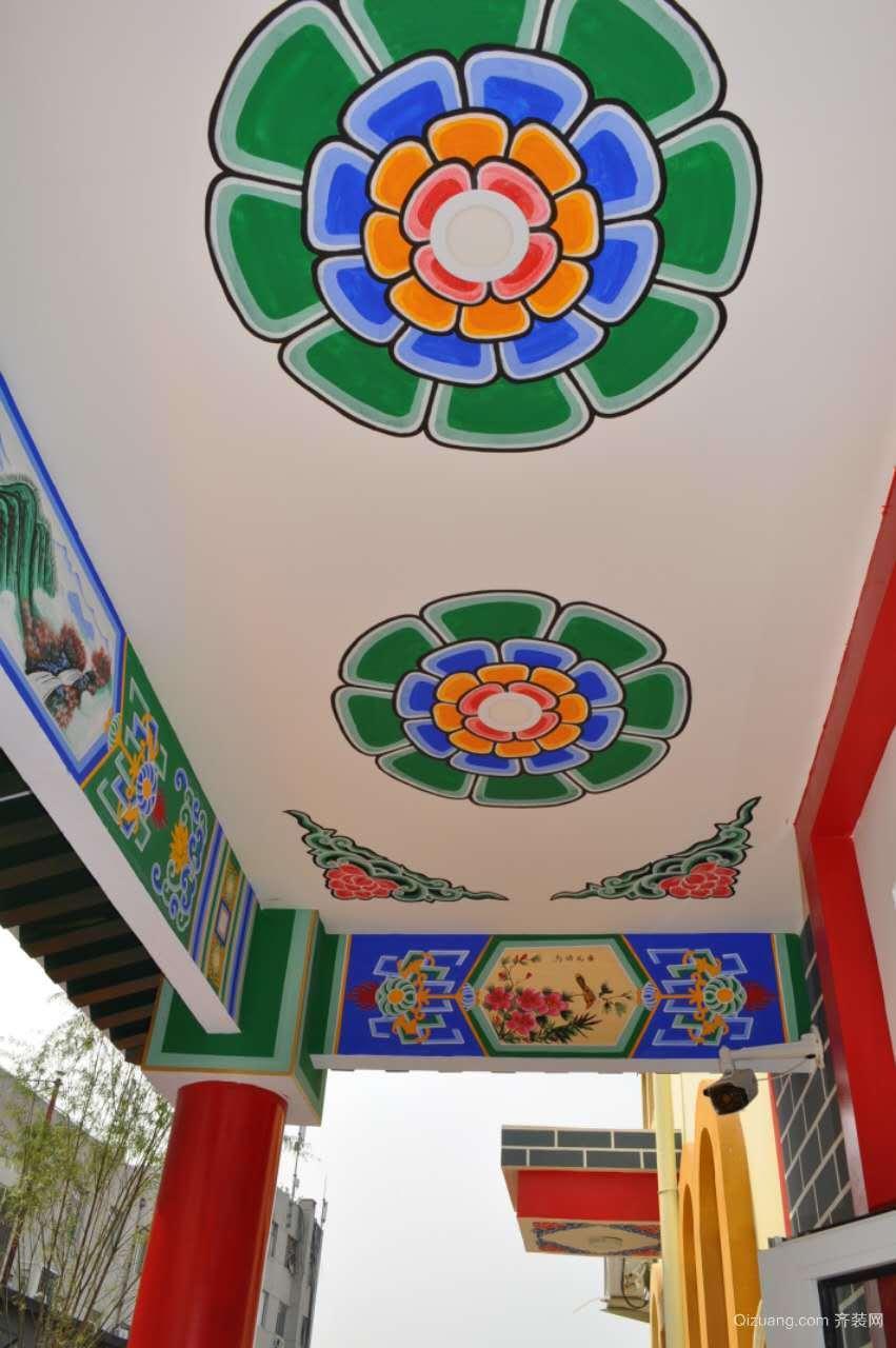 幼儿园中式风格装修效果图实景图
