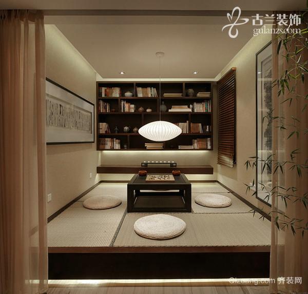 滨江壹号中式风格装修效果图实景图