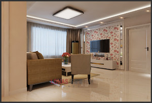 明信鹭湾132平米简美风格三居室