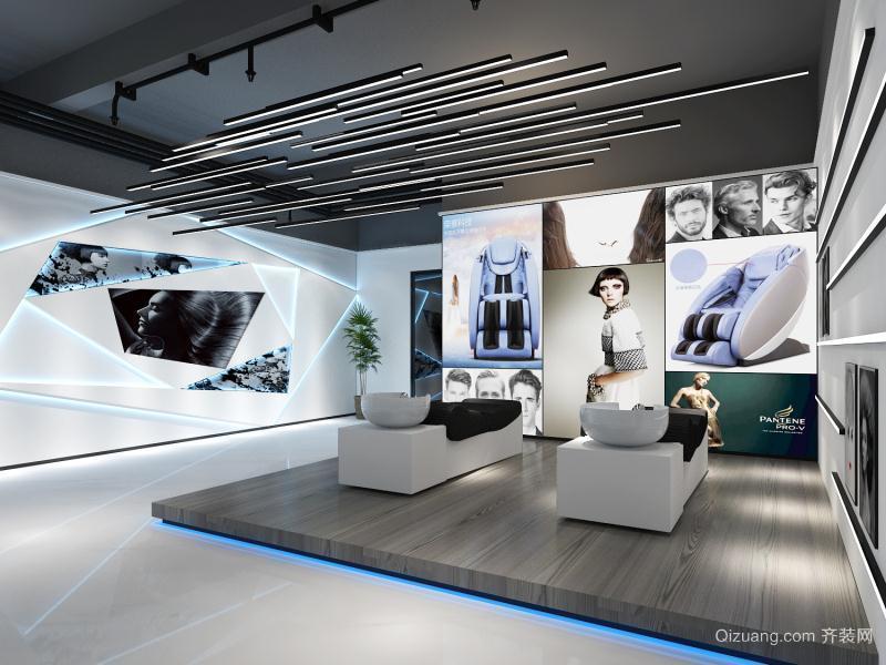 发廊现代简约装修效果图实景图