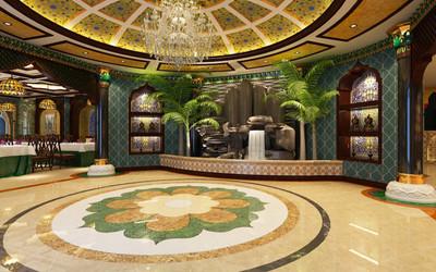 简阳新疆餐厅装修效果图装修设计案例