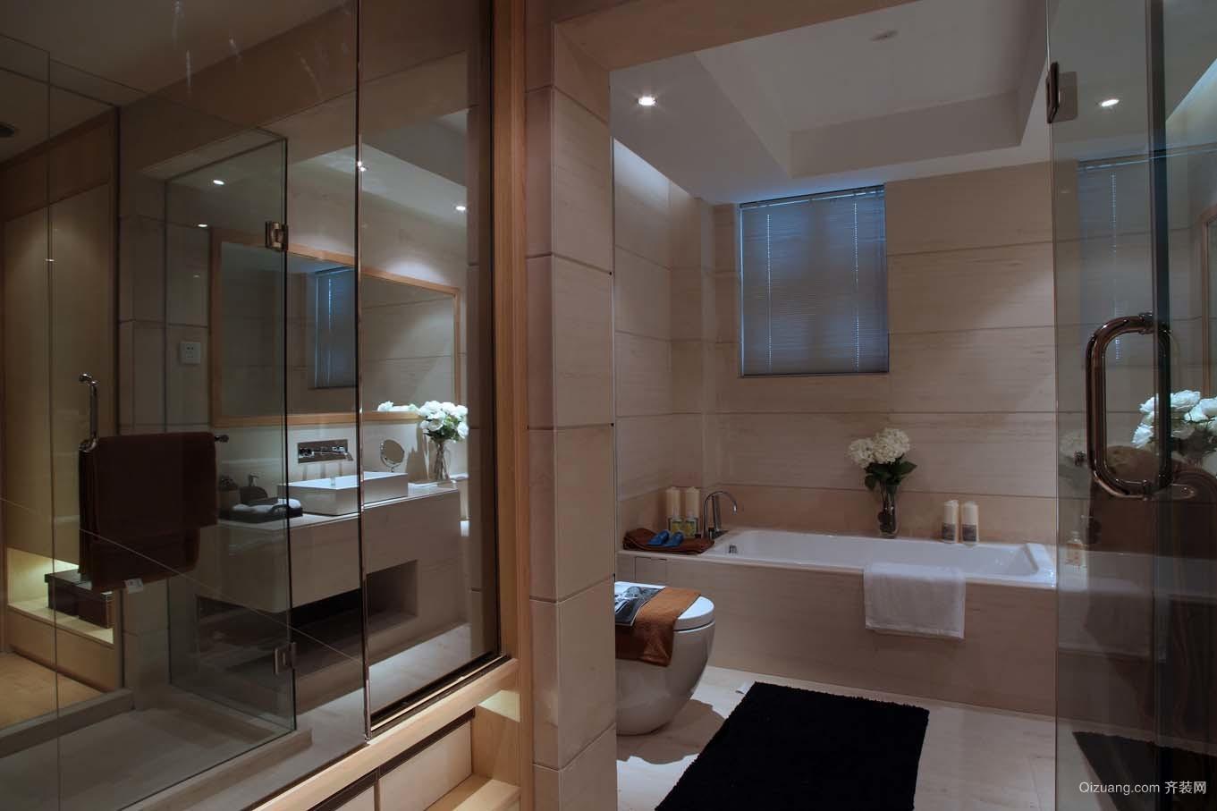 车道沟紫竹花园的四居室成功案例现代简约装修效果图实景图