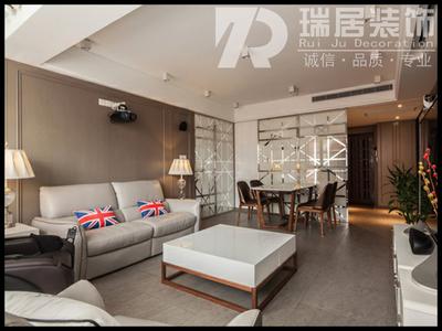 芜湖[瑞居装饰]绿地跃层现代风格装修效果图装修设计案例