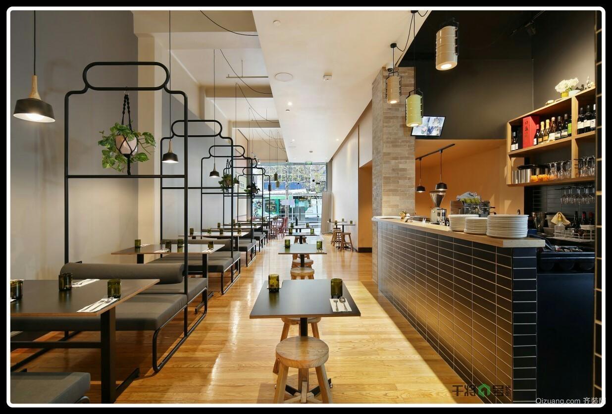 十全街料理店现代简约装修效果图实景图