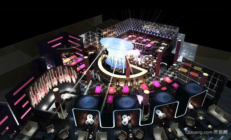 高档酒吧设计美式风格装修效果图实景图